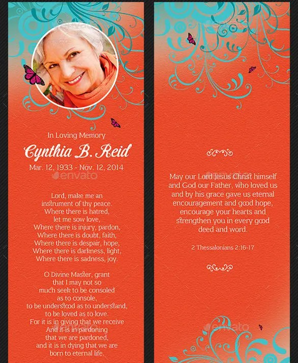 15+ Funeral Bookmark Templates -PSD, Vector EPS Free  Premium