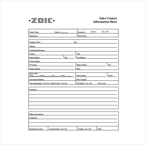 employee information format
