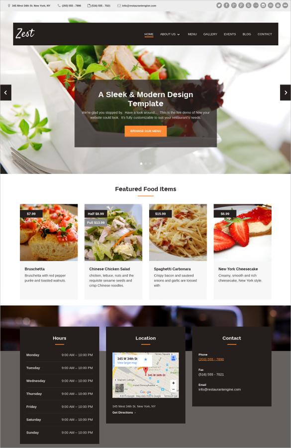 34+ Restaurant HTML5 Website Themes  Templates Free  Premium - restaurant table layout templates