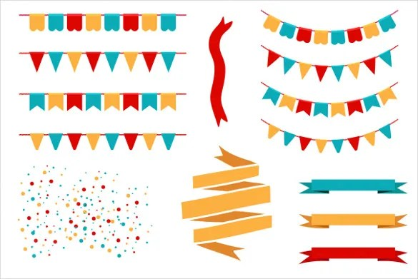Pennant Banner Template \u2013 24+ Free PSD, AI, Vector EPS, Illustration