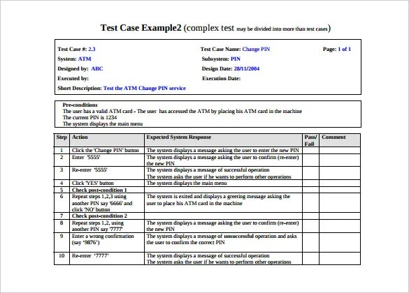 test case example - Onwebioinnovate - test case template