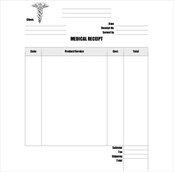 18+ Doctor Receipt Templates - Excel, Word,Apple Pages Free