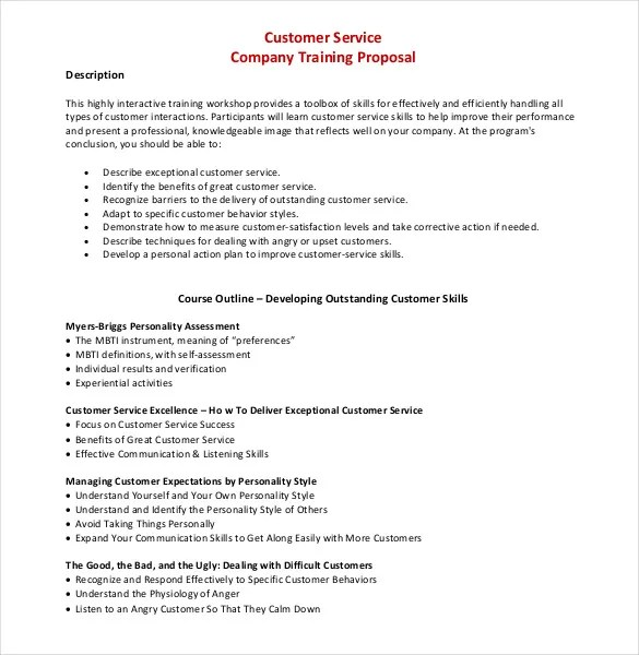 Training Proposal Templates u2013 29+ Free Sample, Example, Format - sample training quotation