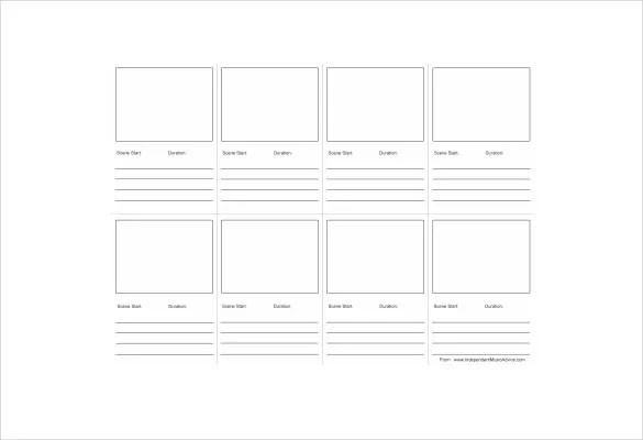 Storyboard Template - 77+ Free Word, PDF, PPT, PSD Format Free - video storyboard template
