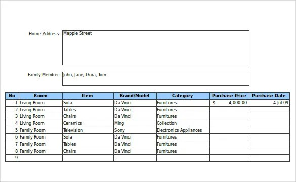 20+ Inventory Form Templates \u2013 Free, Sample, Example, Format - inventory form template