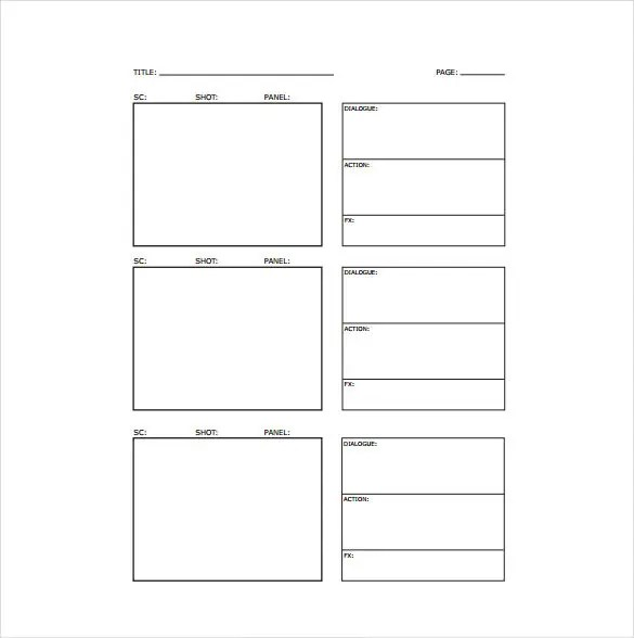 Storyboard Template - 85+ Free Word, PDF, PPT, PSD Format Free - photography storyboard sample