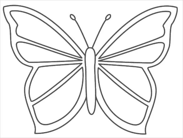30+ Butterfly Templates u2013 Printable Crafts \ Colouring Pages - butterfly template