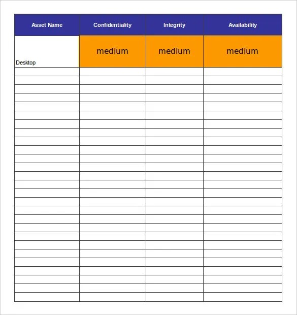 15+ Asset Inventory Templates \u2013 Free, Sample, Example, Format