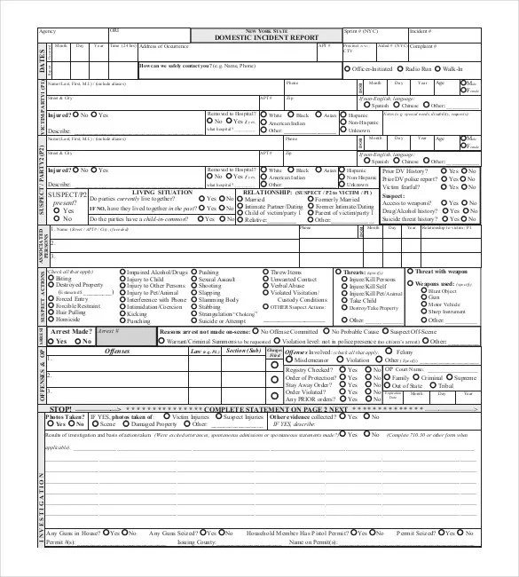 Sample Police Report Template u2013 13+ Free Word, PDF Documents - police report template