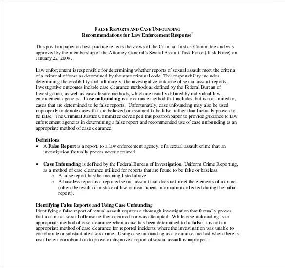 17+ Sample Police Report Templates - PDF, DOC Free  Premium Templates - criminal report template