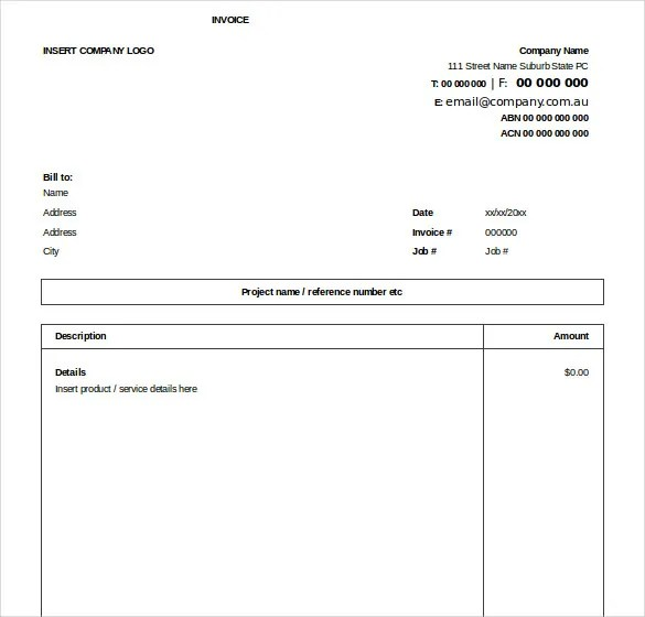 invoice format excel free download - Onwebioinnovate