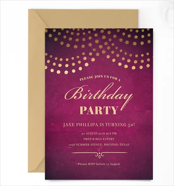 Birthday Invitation Email Template \u2013 27+ Free PSD, EPS Format - format for birthday invitation