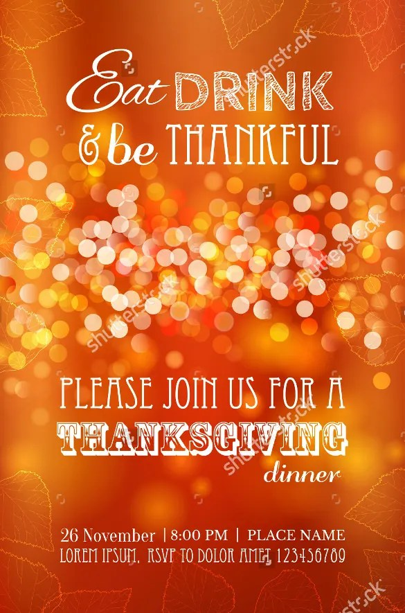 25+ Thanksgiving Menu Templates \u2013 Free Sample, Example Format - dinner party menu templates free download