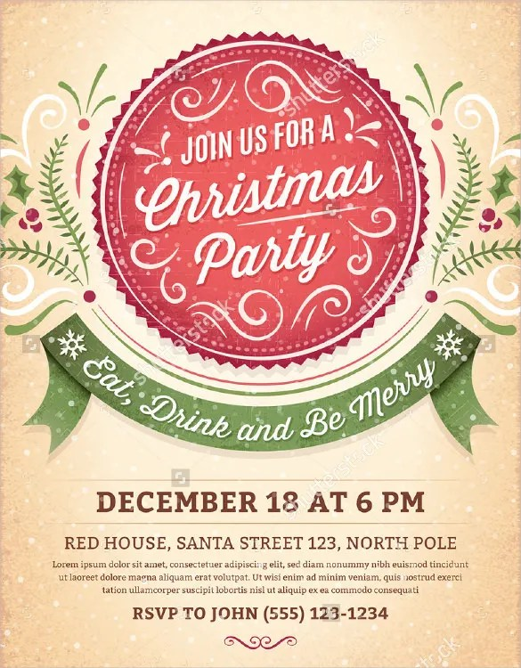 Christmas Party Invitation Template Free u2013 gangcraftnet - party invitation templates word