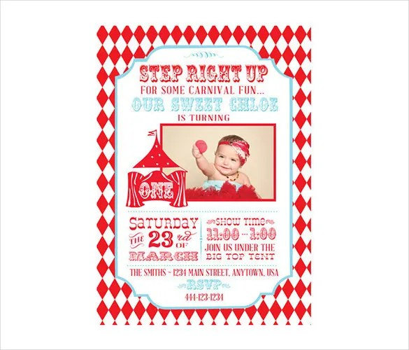 Circus Party Invitation Template - 24+ Free JPG, PSD Format Download - Circus Party Invitation
