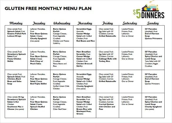 10+ Monthly Menu Templates - Psd, Pages, Docs, Ai Free  Premium