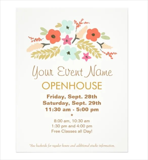 Open House Flyer Templates \u2013 39+ Free PSD Format Download Free