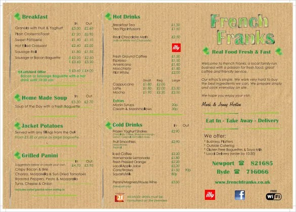 13+ French Menu Templates u2013 Free Sample, Example Format Download - sample drink menu template