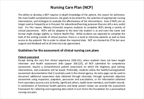 Nursing Care Plan Templates - 20+ Free Word, Excel, PDF Documents