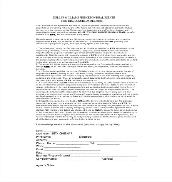 10+ Non-Disclosure Agreement Templates \u2013 Free Sample, Example