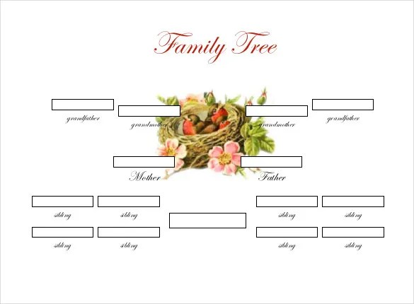 Family Tree Template - 37+ Free Printable Word, Excel, PDF, PSD - blank family tree template