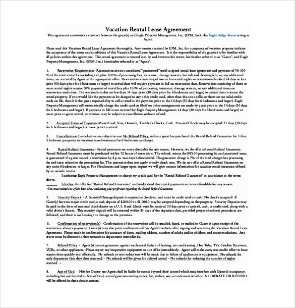 16+ Lease Agreement Templates \u2013 Word, PDF, Pages Free  Premium