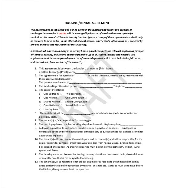 10+ Lease Agreement Templates u2013 Free Sample, Example, FormatHow Do - rental lease agreement