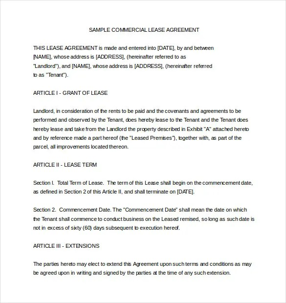 10+ Lease Agreement Templates \u2013 Free Sample, Example, Format