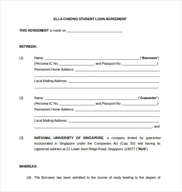 14+ Loan Agreement Templates \u2013 Free Sample, Example, Format Download - Loan Agreement Draft