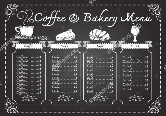 22+ Chalkboard Menu Templates u2013 Free Sample, Example Format - sample drink menu template