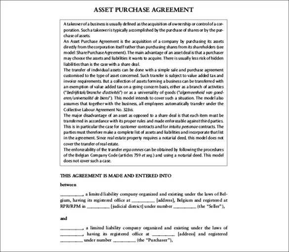 28+ Purchase Agreement Templates \u2013 Word, PDF, Pages Free  Premium