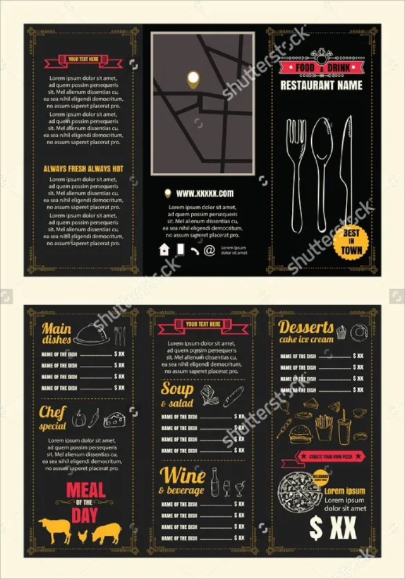 20+ Tri Fold Menu Templates u2013 Free Sample, Example Format Download - sample drink menu template