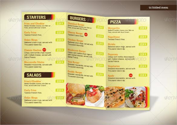 3 fold menu template - Onwebioinnovate - a la carte menu template