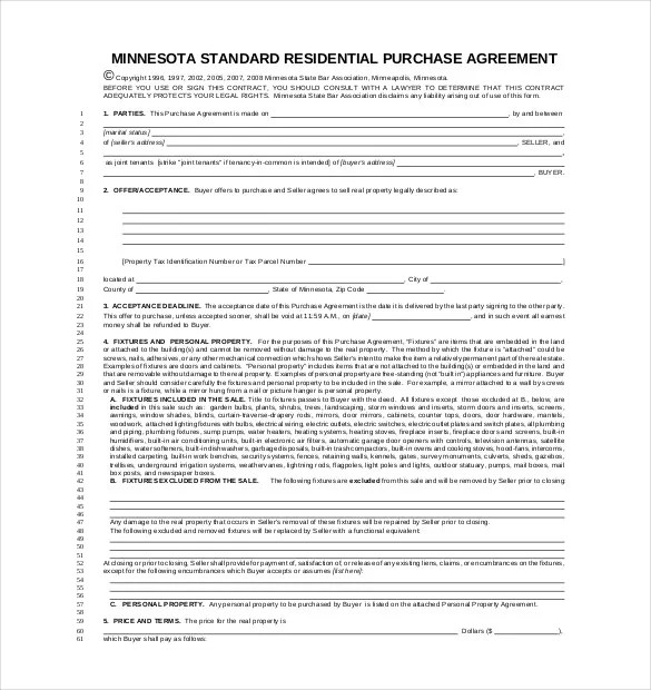 16+ Purchase Agreement Templates \u2013 Free Sample, Example, Format - Home Purchase Agreement Template Free