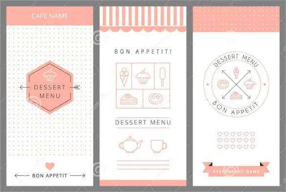 Dessert Menu Templates \u2013 21+ Free PSD, EPS Format Download! Free
