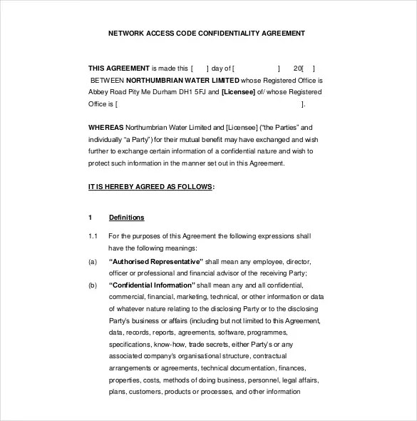 10+ Confidentiality Agreement Templates \u2013 Free Sample, Example