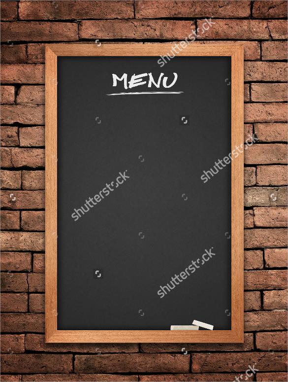 28+ Menu Board Templates u2013 Free Sample, Example Format Download - sample chalkboard menu template