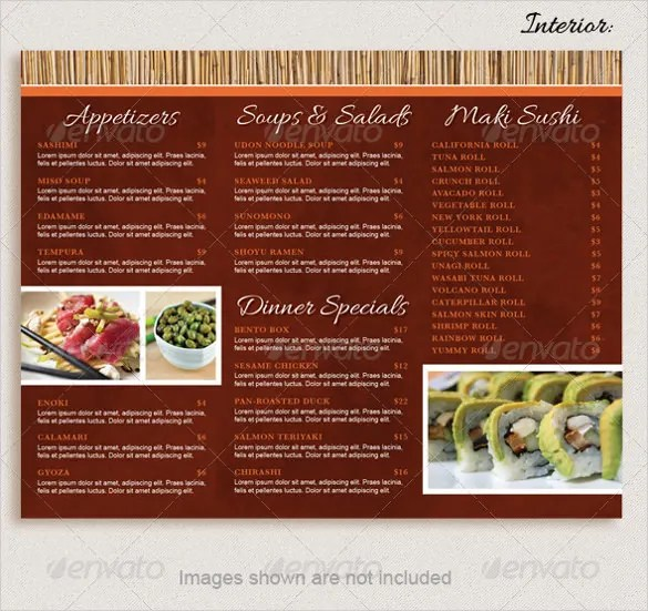 Take Out Menu Template -15+ Free PSD, EPS, PDF Documents Download - how to make a food menu on microsoft word