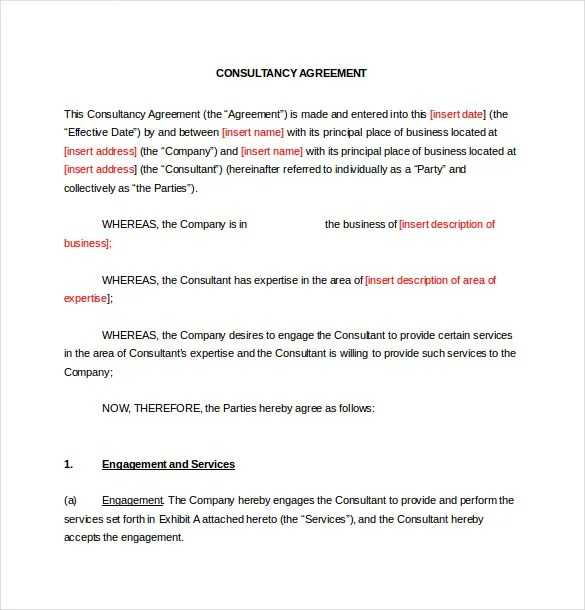 12+ Consulting Agreement Templates\u2013 Free Sample, Example, Format - sample consulting agreement