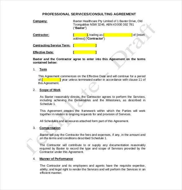 Consulting Agreement Form Business u2013 Service Agreements New - business consultant agreement