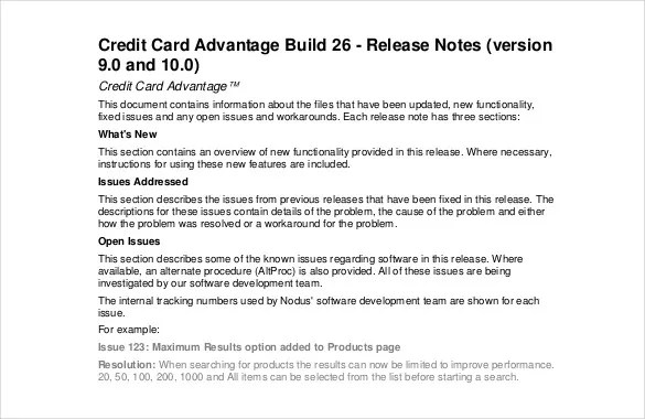 Release Notes Template - 9 Free Word, PDF Documents Download Free - release note template