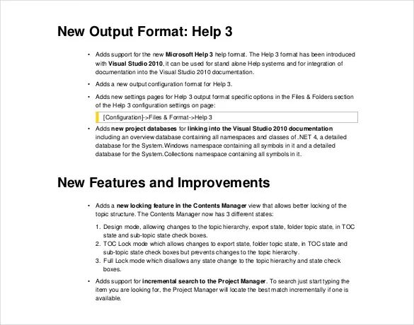 software release notes template free download