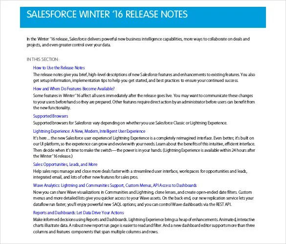 Release Notes Template - 9 Free Word, PDF Documents Download Free - release notes template