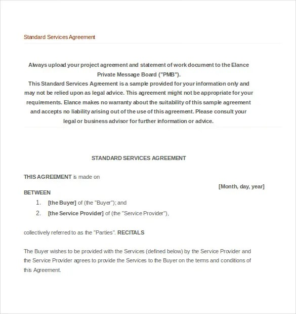 35+ Service Agreement Templates - Word, PDF Free  Premium Templates