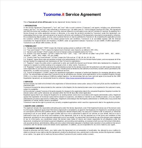 35+ Service Agreement Templates - Word, PDF Free  Premium Templates