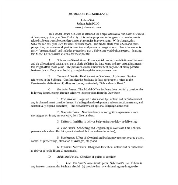 10+ Sublease Agreement Templates\u2013 Free Sample, Example, Format - basic sublet agreement