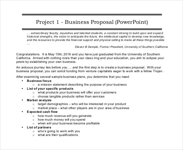 Project Proposal Template - 56+ Free Word, PPT, PDF Documents - Free Sample Business Proposals