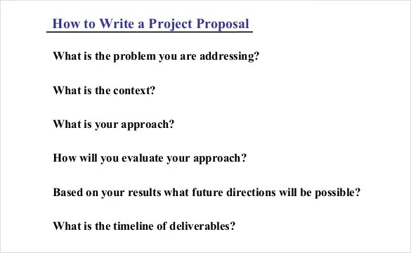 46+ Project Proposal Templates - DOC, PDF Free  Premium Templates - sample proposal template for project