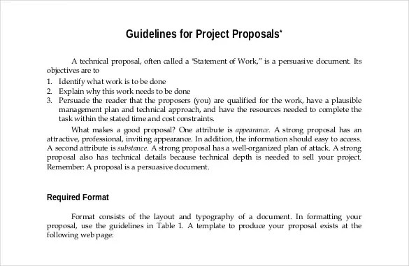 46+ Project Proposal Templates - DOC, PDF Free  Premium Templates