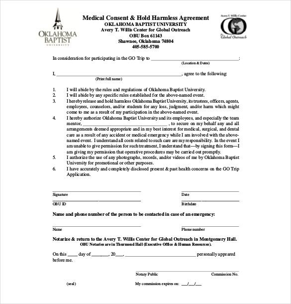 11+ Hold Harmless Agreement Templates\u2013 Free Sample, Example, Format